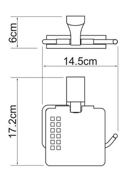 Держатель туалетной бумаги WasserKRAFT Exter K-5225 с крышкой металл, покрытие
