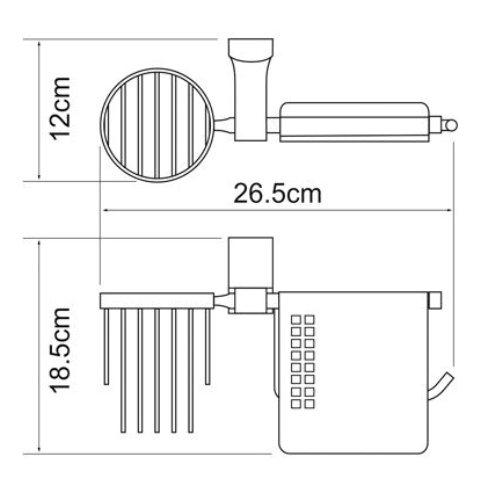 Держатель туалетной бумаги WasserKRAFT Exter K-5259 и освежителя металл, покрытие