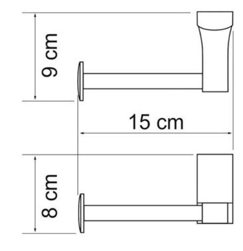 Держатель туалетной бумаги WasserKRAFT Exter K-5296 металл, покрытие