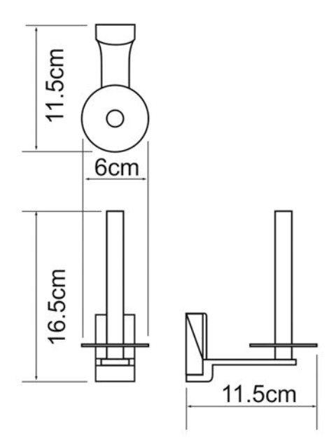 Держатель туалетной бумаги WasserKRAFT Exter K-5297 металл, покрытие