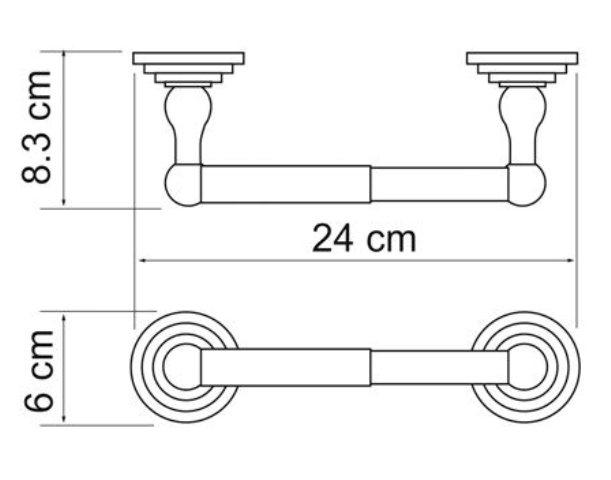 Держатель туалетной бумаги WasserKRAFT Isar K-7322 металл, покрытие