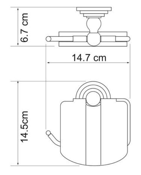 Держатель туалетной бумаги WasserKRAFT Isar K-7325 с крышкой металл, покрытие