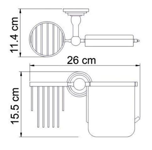 Держатель туалетной бумаги WasserKRAFT Isar K-7359 и освежителя металл, покрытие