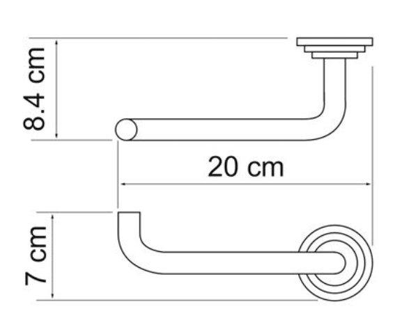 Держатель туалетной бумаги WasserKRAFT Isar K-7396 металл, покрытие