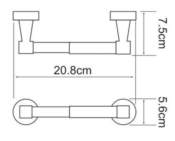 Держатель туалетной бумаги WasserKRAFT Isen K-4022 металл, хромоникелевое покрытие, фото