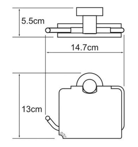 Держатель туалетной бумаги WasserKRAFT Isen K-4025 с крышкой металл, хромоникелевое покрытие, фото