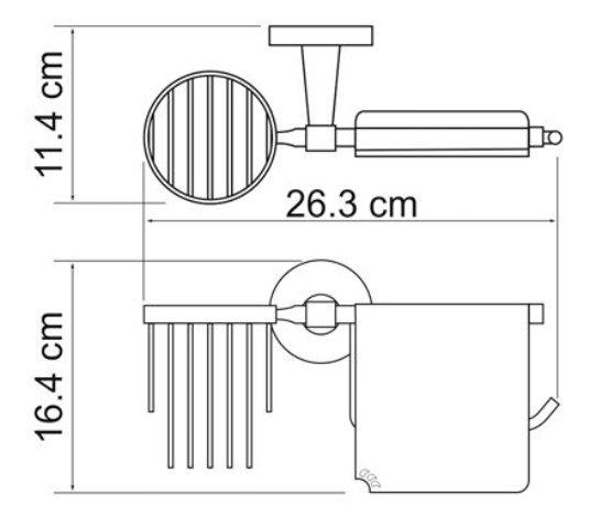 Держатель туалетной бумаги WasserKRAFT Isen K-4059 и освежителя металл, хромоникелевое покрытие, фото