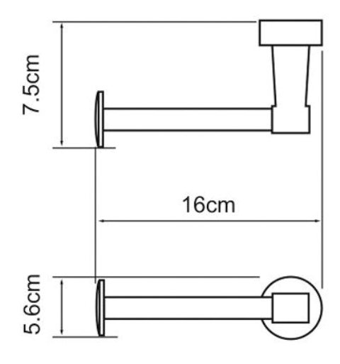 Держатель туалетной бумаги WasserKRAFT Isen K-4096 металл, хромоникелевое покрытие, фото