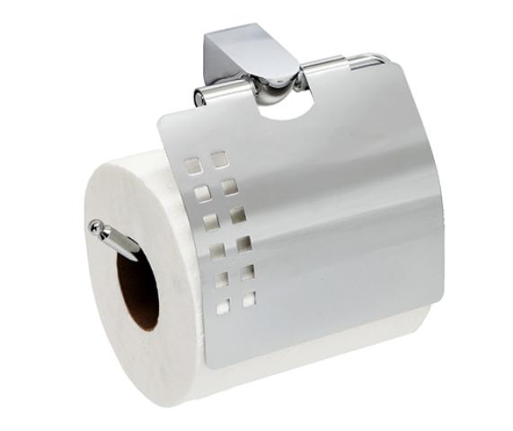 Держатель туалетной бумаги WasserKRAFT Kammel K-8325 с крышкой металл, хромоникелевое покрытие, фото