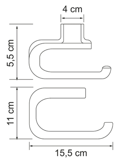 Держатель туалетной бумаги WasserKRAFT Kammel K-8396 металл, хромоникелевое покрытие, фото