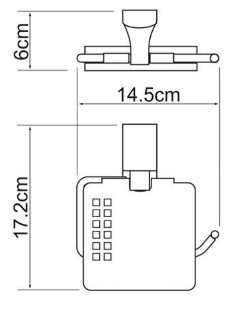 Держатель туалетной бумаги WasserKRAFT Leine K-5025 White с крышкой металл, хромоникелевое покрытие, фото