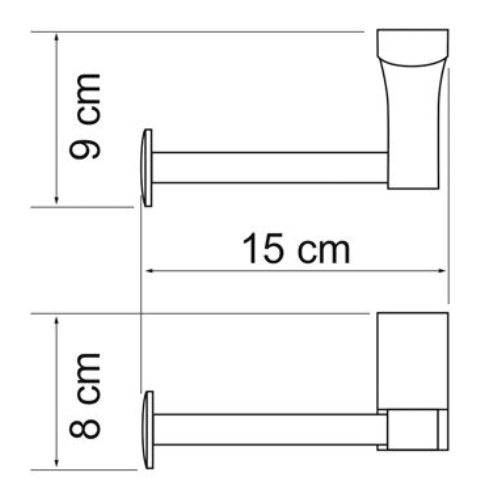 Держатель туалетной бумаги WasserKRAFT Leine K-5096 White металл, хромоникелевое покрытие, фото