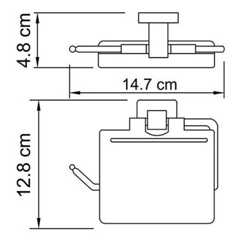 Держатель туалетной бумаги WasserKRAFT Lippe K-6525 с крышкой металл, хромоникелевое покрытие, фото
