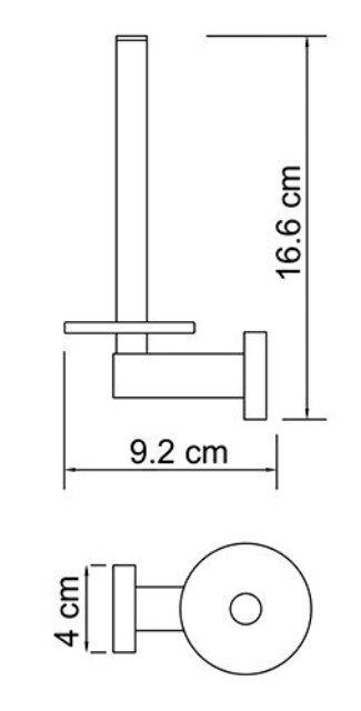 Держатель туалетной бумаги WasserKRAFT Lippe K-6597 металл, хромоникелевое покрытие, фото