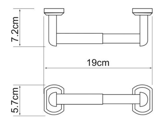 Держатель туалетной бумаги WasserKRAFT Oder K-3022 металл, хромоникелевое покрытие, фото