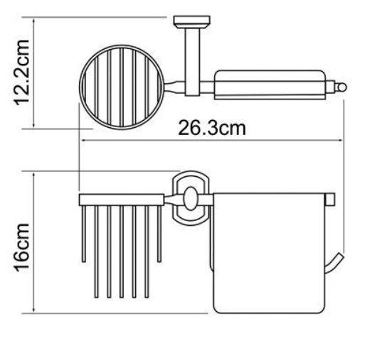 Держатель туалетной бумаги WasserKRAFT Oder K-3059 и освежителя металл, хромоникелевое покрытие, фото