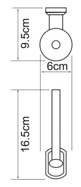 Держатель туалетной бумаги WasserKRAFT Oder K-3097 металл, хромоникелевое покрытие, фото