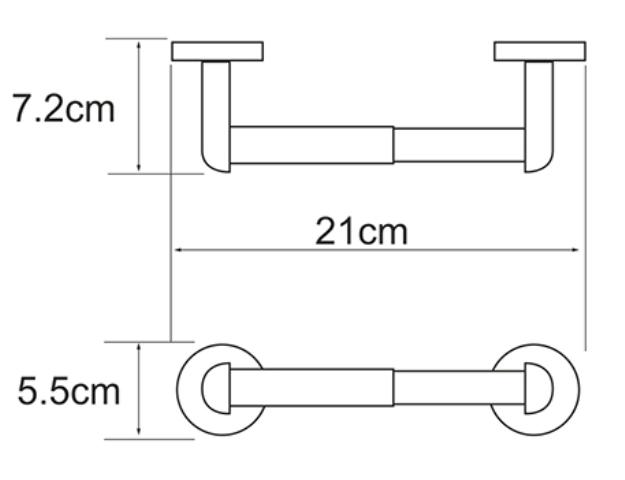 Держатель туалетной бумаги WasserKRAFT Rhein K-6222 металл, хромоникелевое покрытие, фото