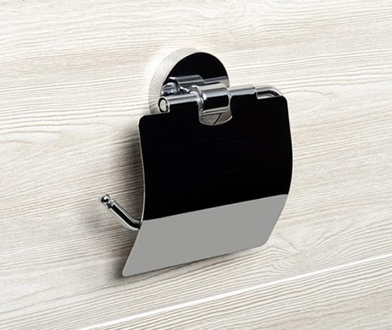 Держатель туалетной бумаги WasserKRAFT Rhein K-6225 с крышкой металл, хромоникелевое покрытие, фото