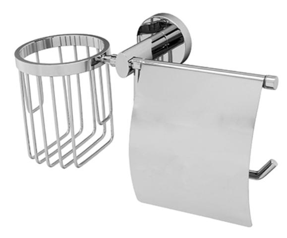 Держатель туалетной бумаги WasserKRAFT Rhein K-6259 и освежителя металл, хромоникелевое покрытие, фото