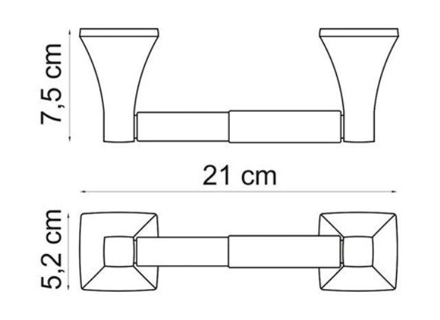 Держатель туалетной бумаги WasserKRAFT Wern K-2522 металл, хромоникелевое покрытие, фото