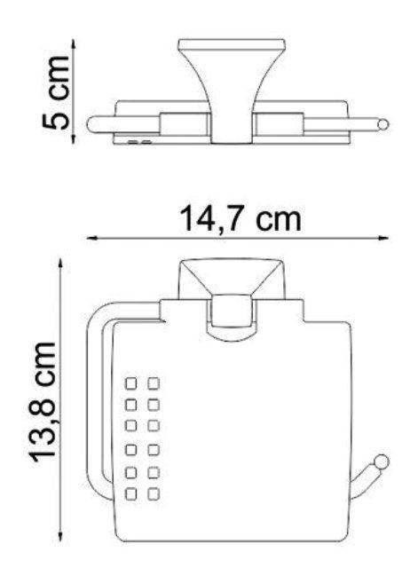 Держатель туалетной бумаги WasserKRAFT Wern K-2525 с крышкой металл, хромоникелевое покрытие, фото