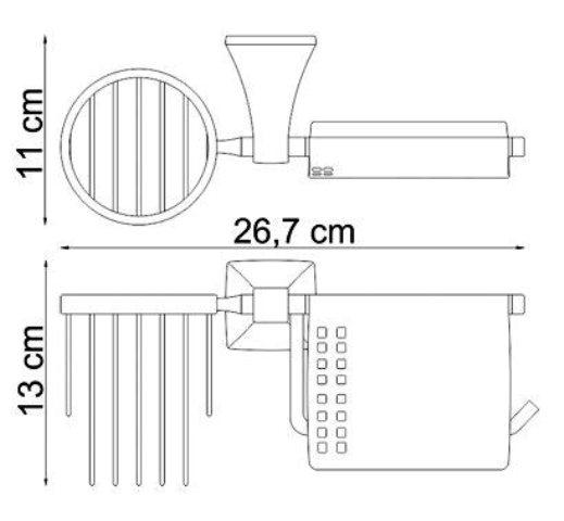 Держатель туалетной бумаги WasserKRAFT Wern K-2559 и освежителя металл, хромоникелевое покрытие, фото