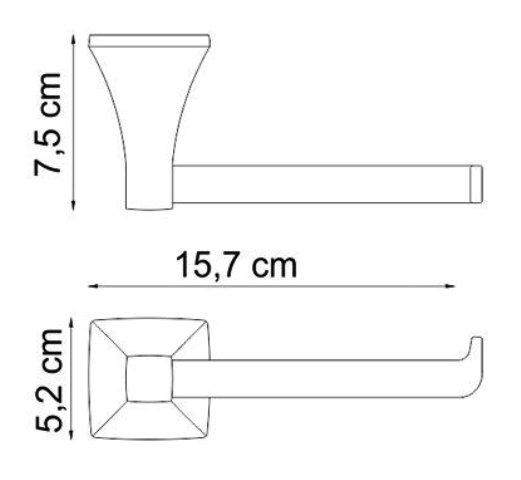 Держатель туалетной бумаги WasserKRAFT Wern K-2596 металл, хромоникелевое покрытие, фото