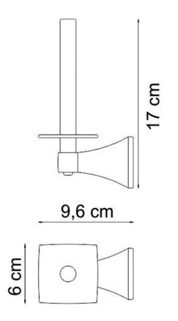 Держатель туалетной бумаги WasserKRAFT Wern K-2597 металл, хромоникелевое покрытие, фото
