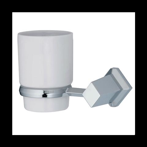 Подстаканник керамический WasserKRAFT Aller K-1128C металл, хромоникелевое покрытие, керамика, фото