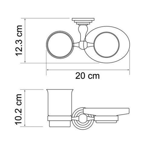 Держатель стакана и мыльницы WasserKRAFT Ammer K-7026 металл, покрытие