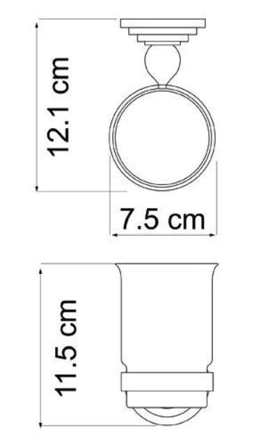 Подстаканник стеклянный WasserKRAFT Ammer K-7028 металл, покрытие