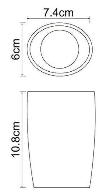 Стакан для зубных щеток WasserKRAFT Dinkel K-4628 фарфор, фото