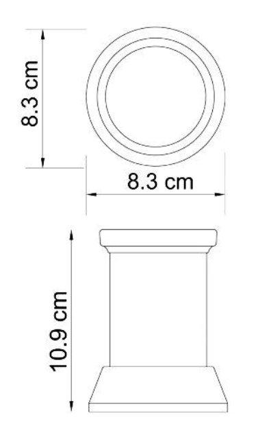 Стакан для зубных щеток WasserKRAFT Isar K-2328 металл, матовое стекло, покрытие