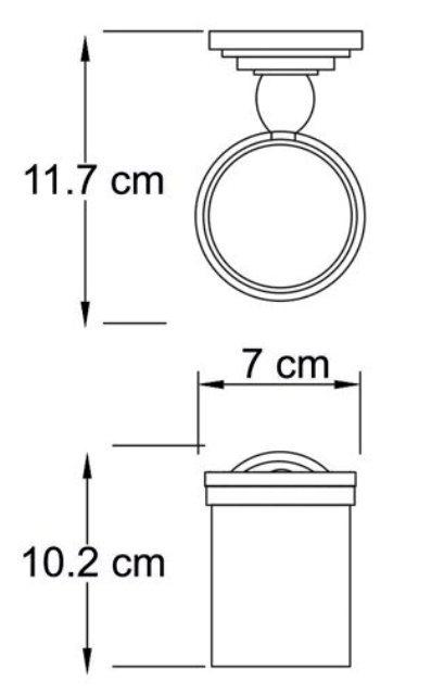 Подстаканник стеклянный WasserKRAFT Isar K-7328 металл, матовое стекло, покрытие