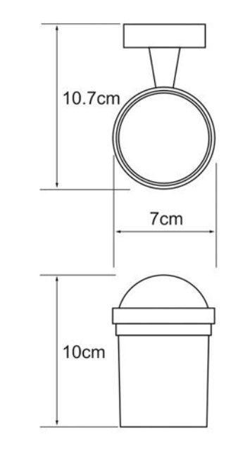 Подстаканник стеклянный WasserKRAFT Isen K-4028 металл, хромоникелевое покрытие, матовое стекло, фото