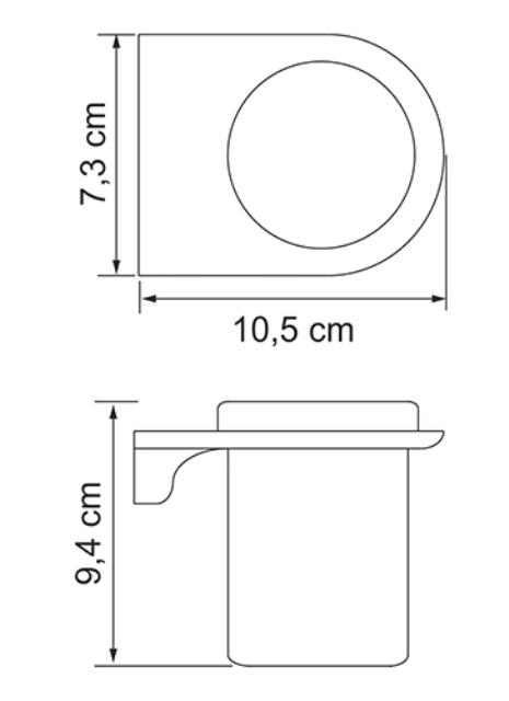 Стакан для зубных щеток WasserKRAFT Kammel K-8328 стеклянный металл, хромоникелевое покрытие, матовое стекло, фото
