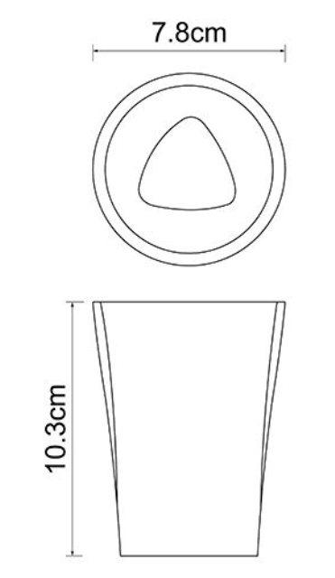 Стакан для зубных щеток WasserKRAFT Ohre K-37728 полирезин, фото