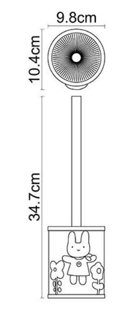 Щетка для унитаза WasserKRAFT Ammer K-6427 металл, хромоникелевое покрытие, полирезин, фото