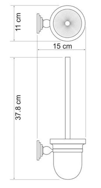 Щетка для унитаза WasserKRAFT Ammer K-7027 подвесная металл, покрытие