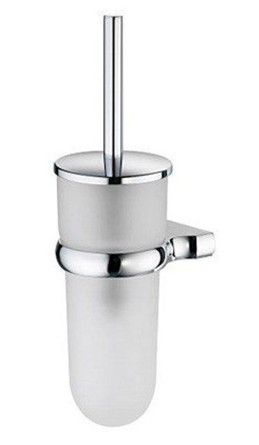 Щетка для унитаза WasserKRAFT Berkel K-6827 подвесная металл, хромоникелевое покрытие, матовое стекло, фото