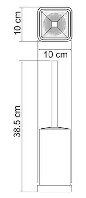 Щетка для унитаза WasserKRAFT K-1037 напольная металл, хромоникелевое покрытие, матовое стекло, фото