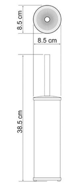 Щетка для унитаза WasserKRAFT K-1047 напольная, покрытие
