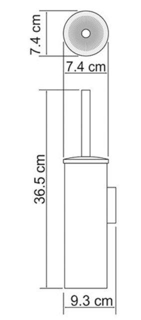 Щётка для унитаза WasserKRAFT K-1057 подвесная, покрытие