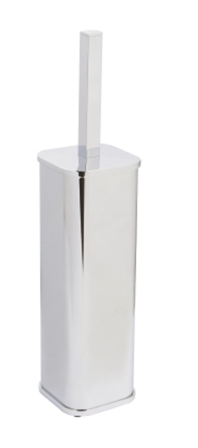 Щетка для унитаза WasserKRAFT K-1117 напольная металл, хромоникелевое покрытие, фото