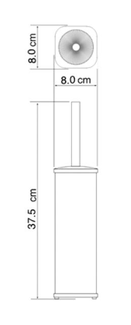 Щетка для унитаза WasserKRAFT K-1137 напольная металл, хромоникелевое покрытие, ABS - пластик, фото