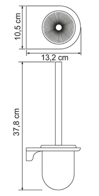 Щетка для унитаза WasserKRAFT Kammel K-8327 подвесная металл, хромоникелевое покрытие, матовое стекло, фото