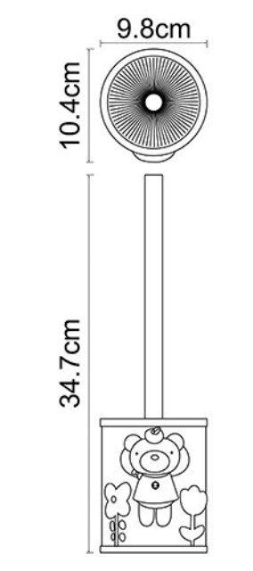 Щетка для унитаза WasserKRAFT Lossa K-3427 металл, хромоникелевое покрытие, полирезин, фото