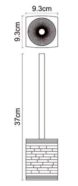 Щетка для унитаза WasserKRAFT Main K-4727 металл, хромоникелевое покрытие, полирезин, фото