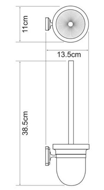 Щетка для унитаза WasserKRAFT Oder K-3027 металл, хромоникелевое покрытие, матовое стекло, фото